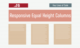 Responsive Equal Height Columns